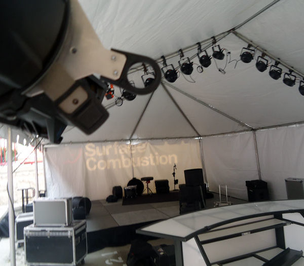 rent lights and stage in ohio at apex event production