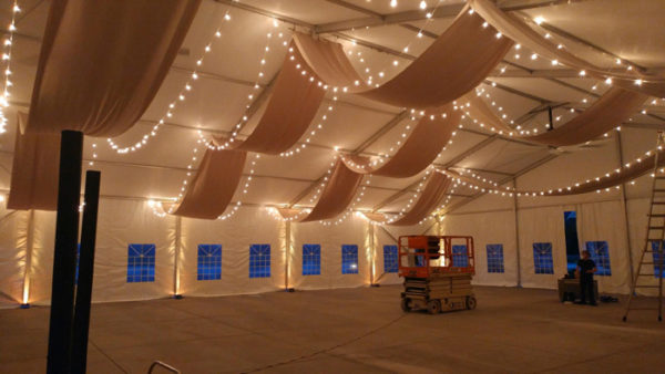 Event Tent Draping and Lights