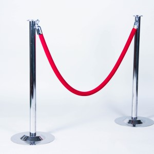 Chrome Stanchion w/ red rope