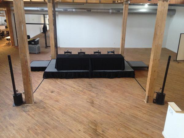 press conference equipment apex event production ohio