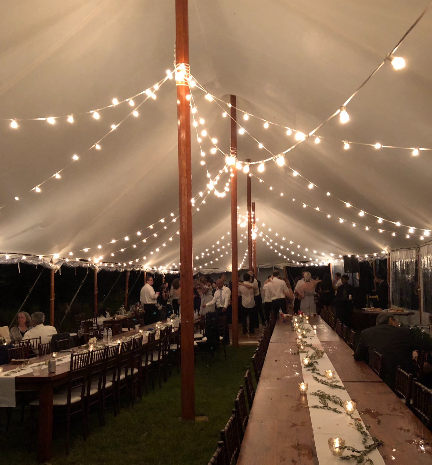 Outdoor Wedding Bistro Lights - Apex Event Pro