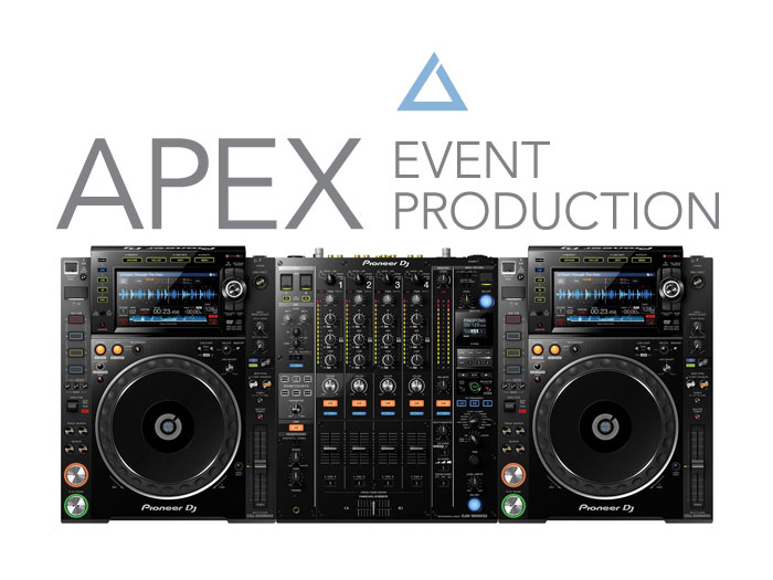 rent a dj mixer and multiplayer at apex event pro in ohio