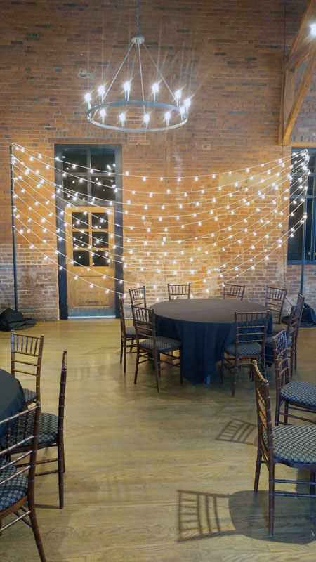 rent bistro lights as a background for your photos in columbus ohio at apex event pro.