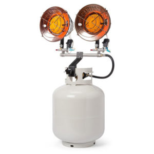 portable propane top tank heater for rent in ohio at apex event production