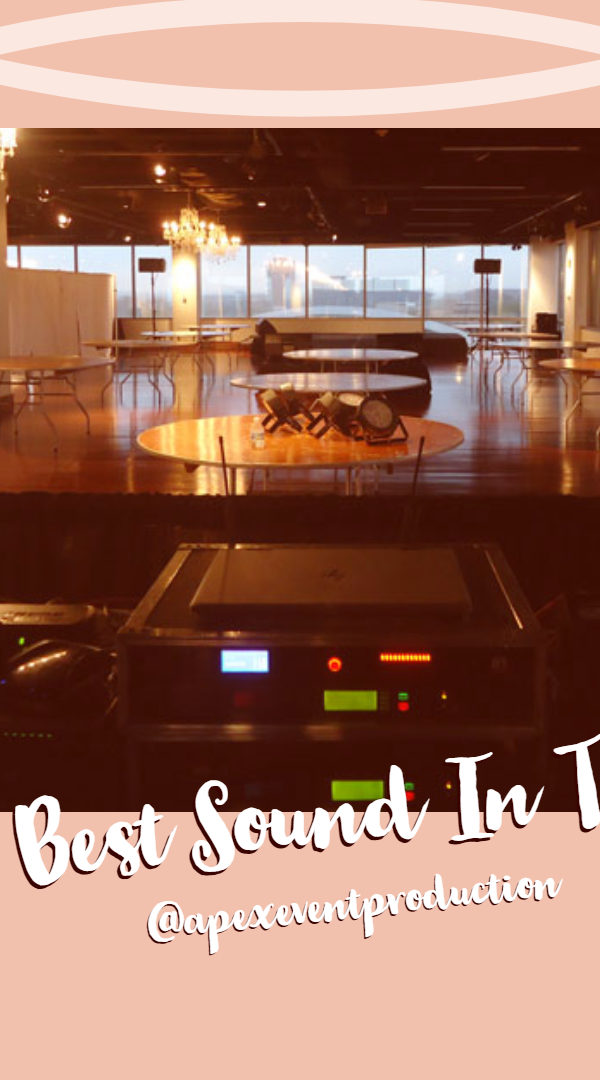 rent sound equipment in columbus ohio at apex event pro