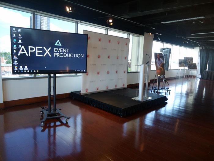 rent audio video in columbus ohio at apex event pro