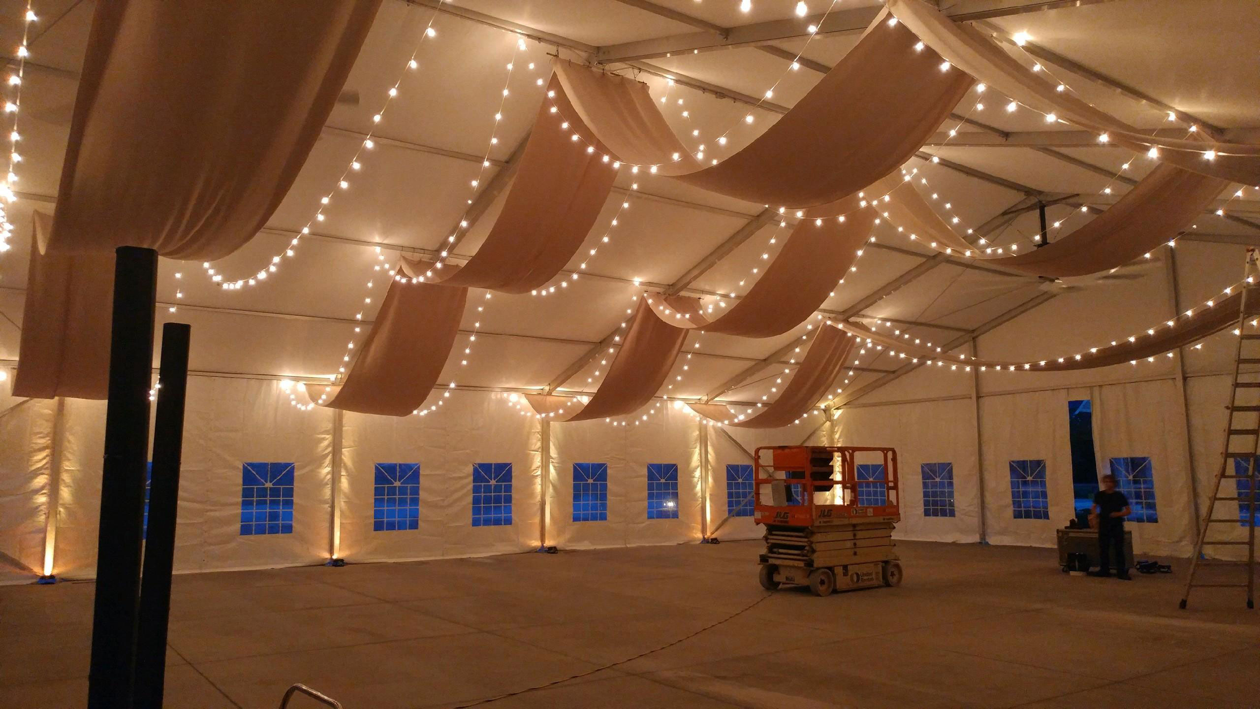 rent lights and decorations in ohio at apex event production