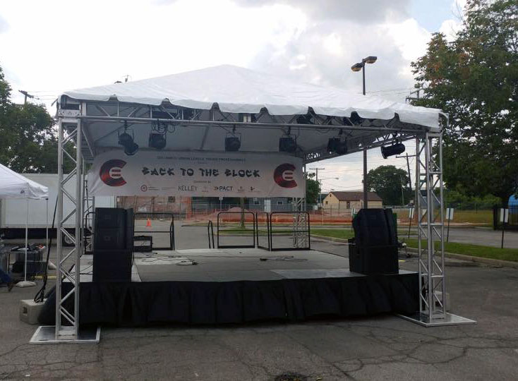 rent a stage and sound equipment in ohio at apex event production