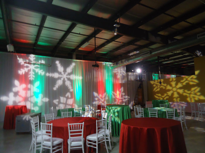 rent direct projection lights and up lighting in ohio at apex event production