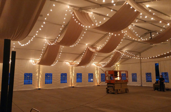 ohio event tent draping and lighting