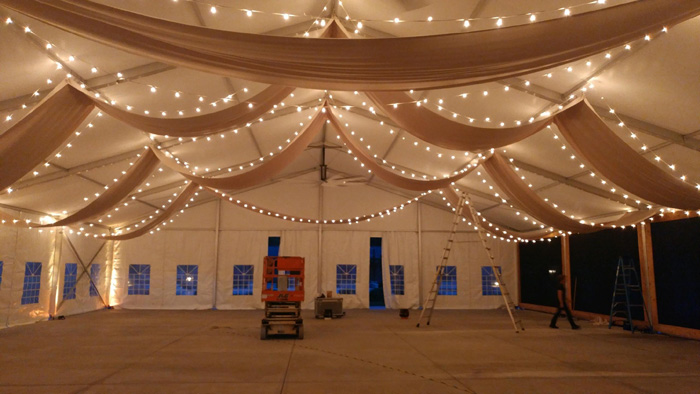Event Tent Draping And Lights Apex Event Pro
