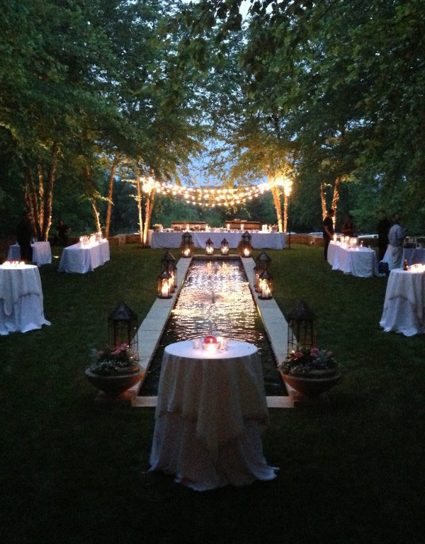 rent bistro lights for your outdoor wedding at apex event production in ohio